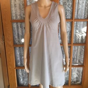 Athleta Light Gray Dress Organic Cotton Spandex M