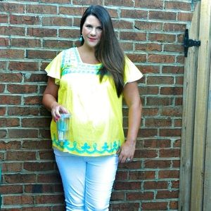 SOL Tops - Embroidered Top- Fits A Range of Sizes
