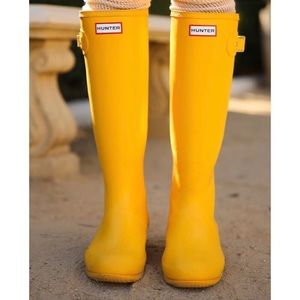 Hunter Boots Shoes - HUNTER Yellow Rain Boots