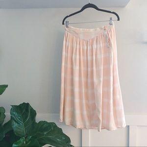 Vintage Dresses & Skirts - Vintage Summer Plaid Midi Skirt