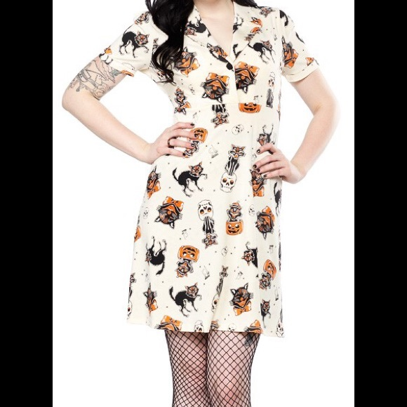 b46e364cd0 NWT Sourpuss Rosie black cat dress