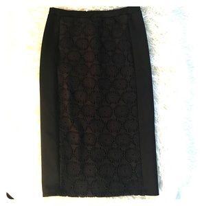 bobeau Dresses & Skirts - Bobeau pencil skirt with crochet detail