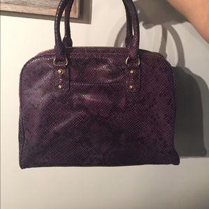 9c9208a550c6 ... get michael kors bags michael kors purple python snakeskin purse e5b78  45a3d