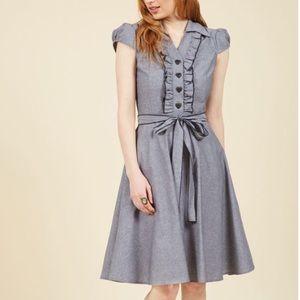 ModCloth Dresses & Skirts - Grey, A-line Modcloth dress