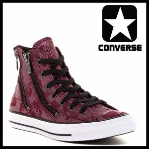 Converse Shoes - CONVERSE LEATHER HI TOPS Stylish Zipper Sneakers