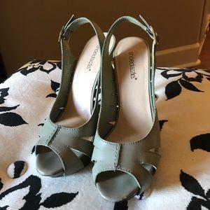 shoedazzle Shoes - Olive Peeptoe Slingback Sandals
