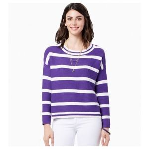 Charming Charlie Sweaters - Charming Charlie Runner Varsity Sweater Striped L