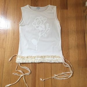 Simonetta Other - Simonetta girls knit flower print top 8