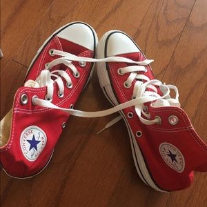 Converse Shoes - brand new red high top converse size 5.5