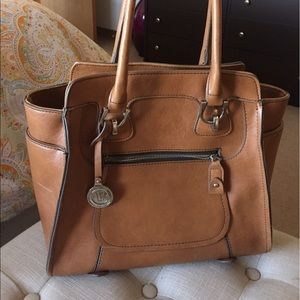 London Fog leather tote bag