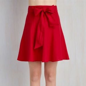 Bright red Modcloth skirt