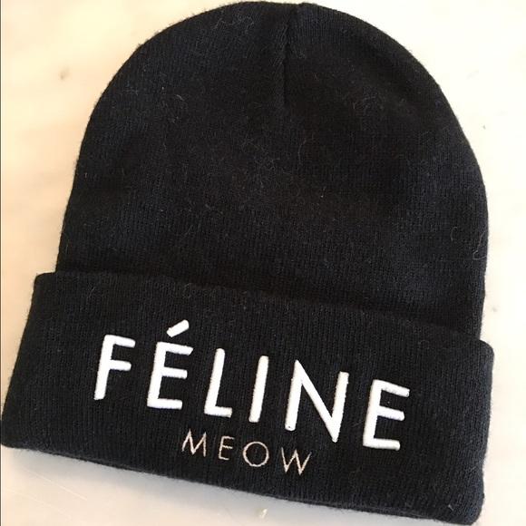 6fb435023a2 Accessories - Brian Lichtenberg Feline Meow Beanie