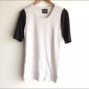 Monrow Dresses & Skirts - Monrow Vegan Leather Short SleeveShirt Dress