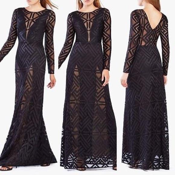 84dead7c7f68 BCBGMaxAzria Dresses & Skirts - BCBG MAX AZRIA Veira Lace Gown Evening  Illusion