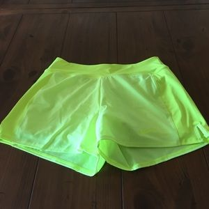 Nike dry fit  flex neon yellow shorts sz s