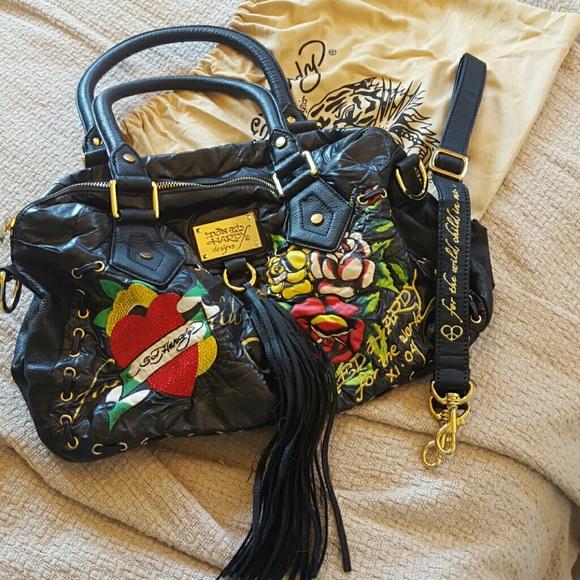 Ed Hardy Handbags - Limited Edition Ed Hardy by Christian Audigier Bag 0576d150cac1a