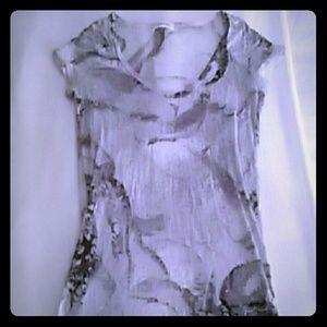 Calvin Klein Tops - EUC Calvin Klein semi sheer v neck dress top