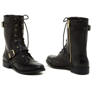 Arturo Chiang Shoes - Arturo Chiang Black Leather Feisty Combat Boots