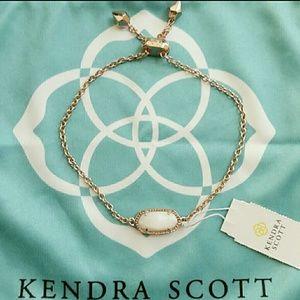 Kendra Scott Elaina bracelet rose gold pearl