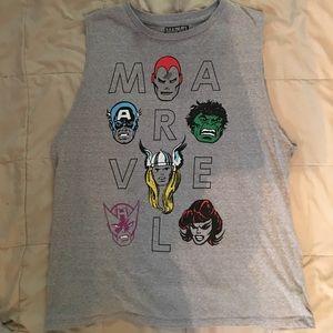 Marvel Tops - Marvel - Avengers Sleeveless Tee Shirt - Jr XL