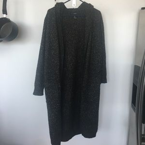 Forever 21 Long Sweater Cardigan w/Hood