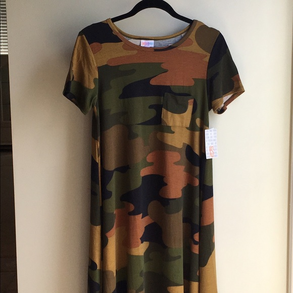 9660607813202 LuLaRoe Dresses | Nwt Major Unicorn Camo Camouflage Carly Xs | Poshmark