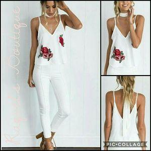 Tops - Karla Silky Cami in White
