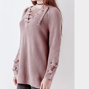 Bohme  Sweaters - Bohme lace up sweater NWT