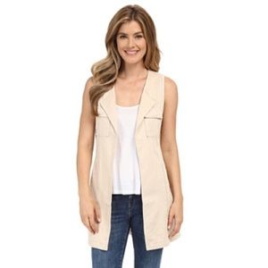 NWT Sanctuary tan linen duster  vest