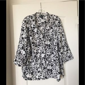 Carole Little Tops - Carole Little linen blouse