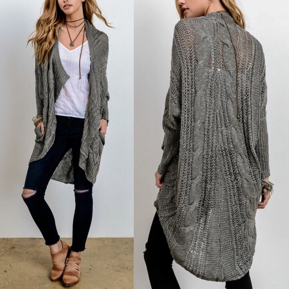 Bellanblue Sweaters - 🆕AMANDA Uber soft knit cardigan - GREY