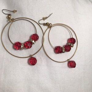 bebe Jewelry - Bebe pink beaded earrings