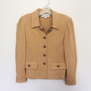 St. John Beige Knitted Jacket