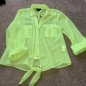 Takara Tops - 💛Sheer neon top🛍💚