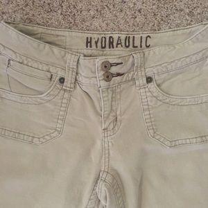 Hydraulic Denim - Hydraulic jeans -neutral cream tone. Juniors 7/8