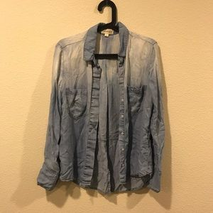 Anthropologie Tops - Cloth & Stone ombré chambray denim shirt