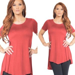 Passion of Essense Tops - Brand New Coral High Low Tunic Top