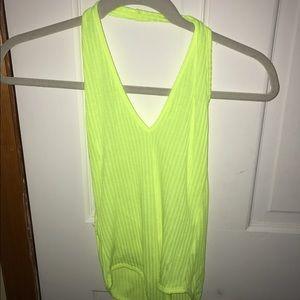 Cleobella Tops - Neon yellow bodysuit
