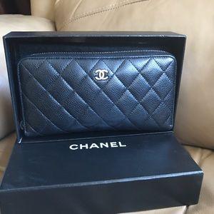 CHANEL Handbags - Authentic around zippy long wallet