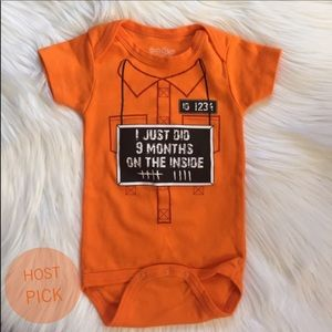 "Sara Kety Other - Unisex NWOT ""9 Months on the Inside"" Onesie"