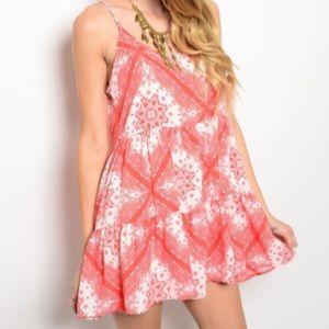 Boho Backless Sun Dress