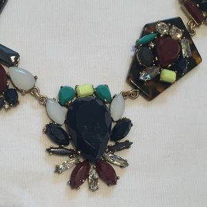 Jcrew statement necklace tortoise navy and mint