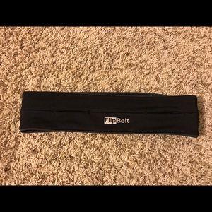Flip belt running storage belt