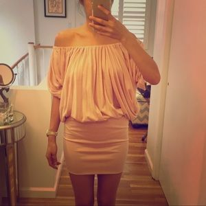 Blush Blouson Knit Dress