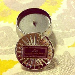 Other - Voluspa Makassar Ebony & Peach Candle