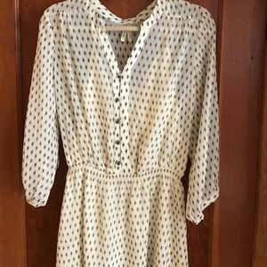 gentlefawn Dresses & Skirts - Black and cream patterned shirt dress.