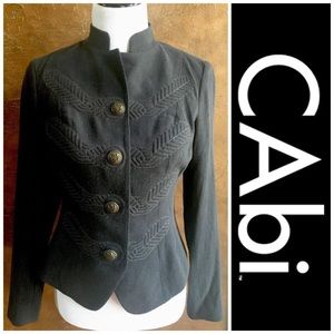 CAbi Jackets & Blazers - Cabi Gray Military Embroidered Corps Jacket #221