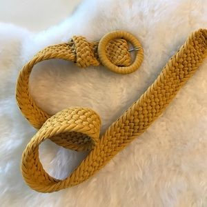 Banana Republic Accessories - Banana Republic: Mustard yellow woven belt
