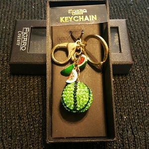 2xist Accessories - NWT watermelon slices keychain. Gold clip on