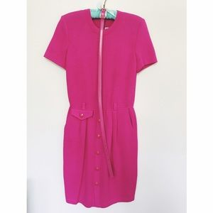 💖 Beautiful St. John Fuchsia Knitted Dress 💖